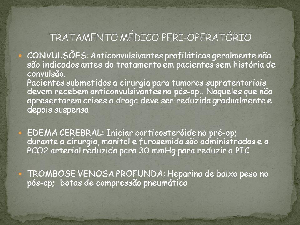 TRATAMENTO MÉDICO PERI-OPERATÓRIO