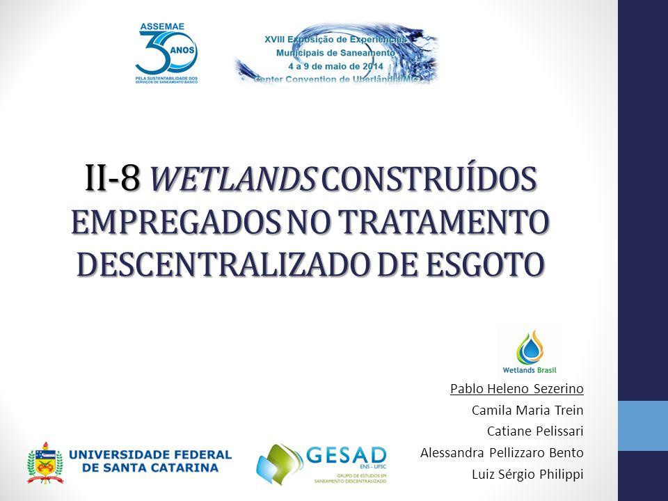 II-8 WETLANDS CONSTRUÍDOS EMPREGADOS NO TRATAMENTO DESCENTRALIZADO DE ESGOTO