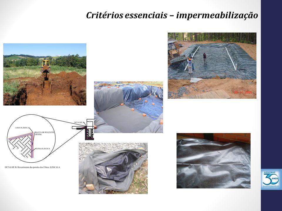 Critérios essenciais – impermeabilização