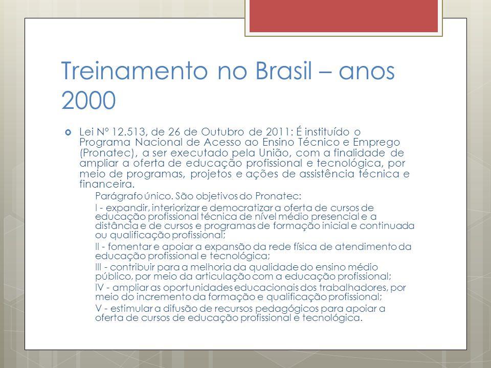 Treinamento no Brasil – anos 2000