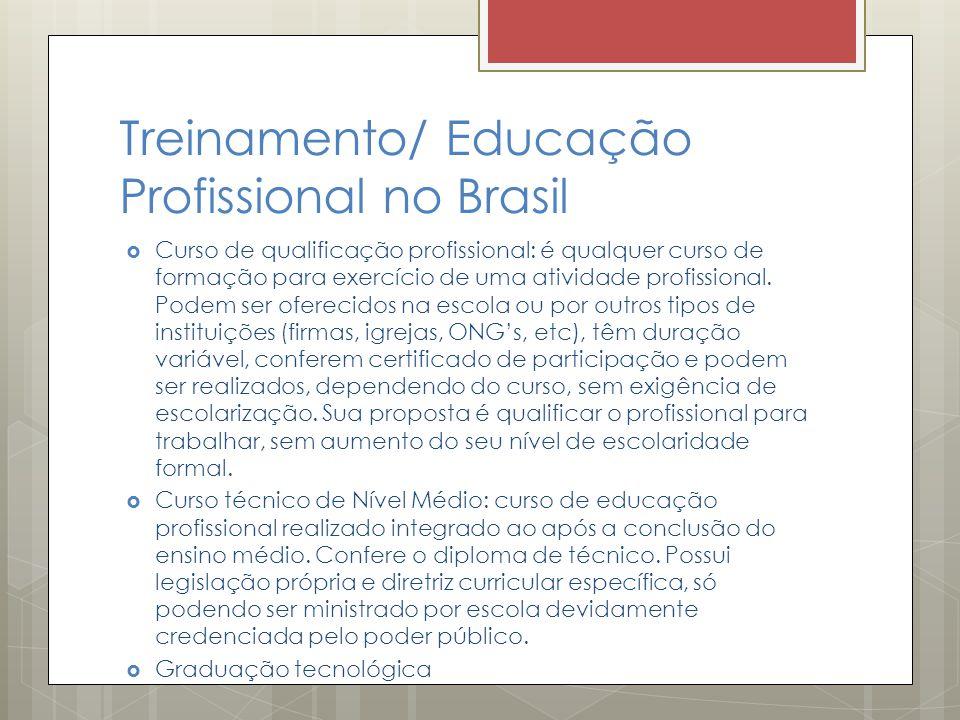 Treinamento/ Educação Profissional no Brasil