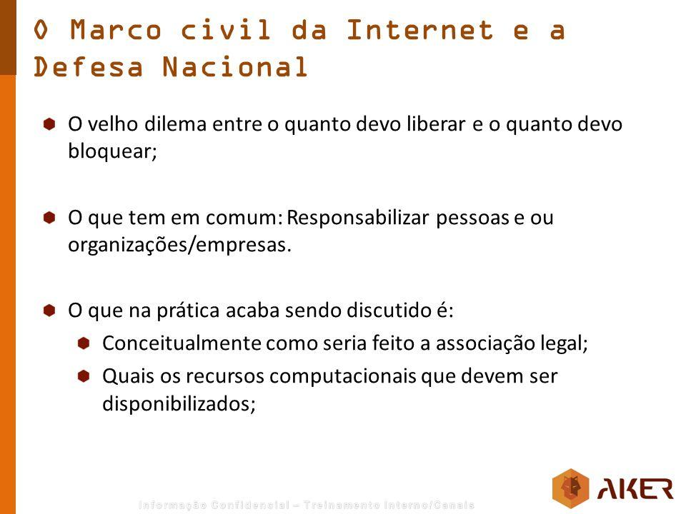 O Marco civil da Internet e a Defesa Nacional