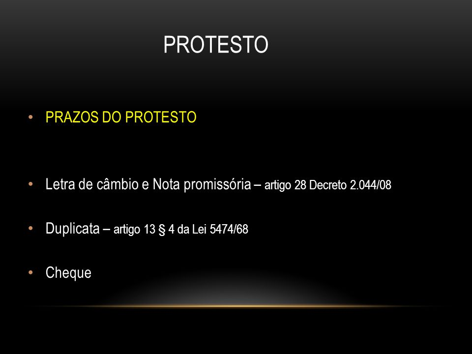 PROTESTO PRAZOS DO PROTESTO