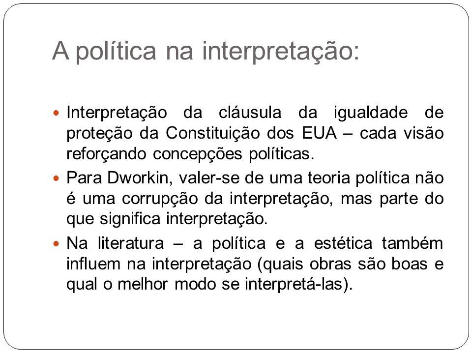 A política na interpretação:
