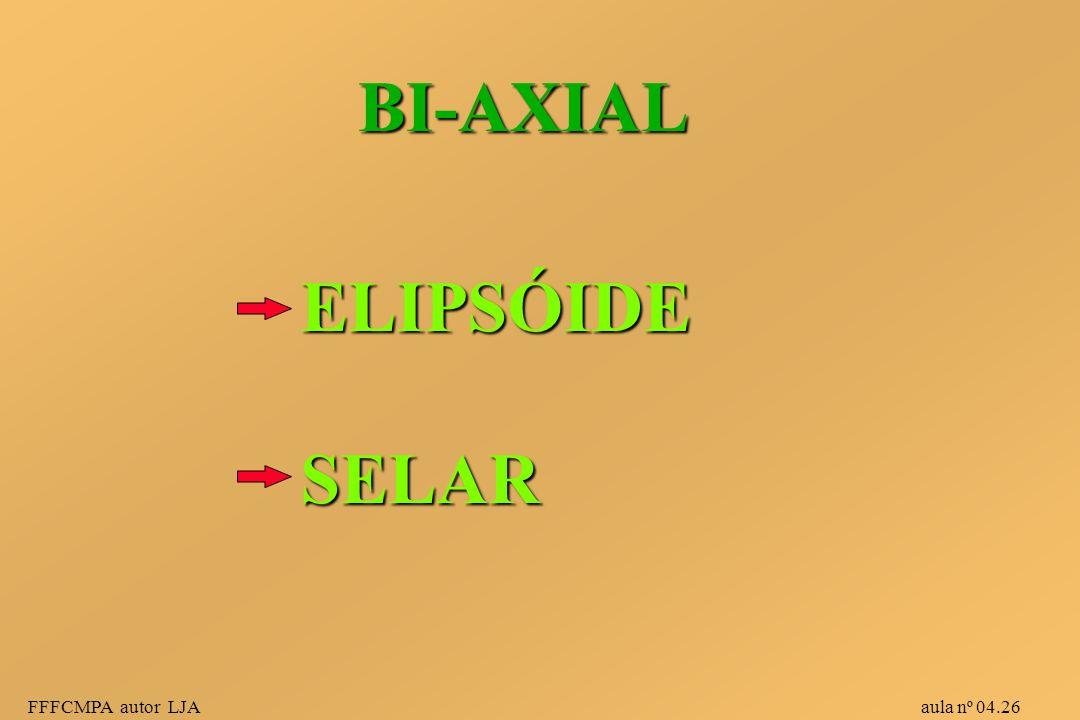 BI-AXIAL ELIPSÓIDE. SELAR.