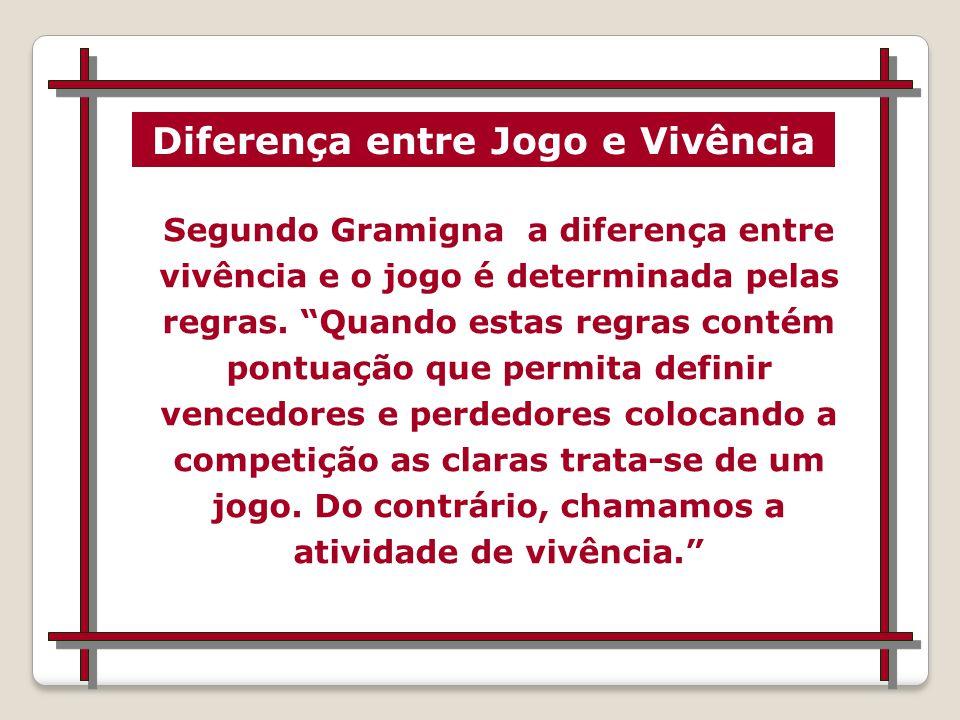 Diferença entre Jogo e Vivência