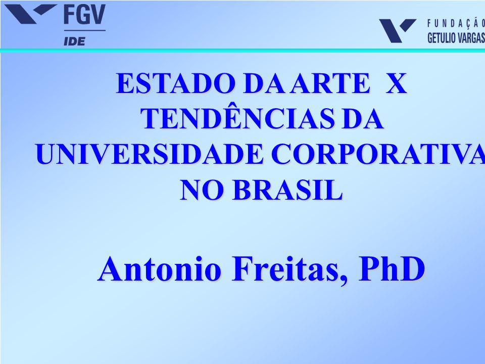 ESTADO DA ARTE X TENDÊNCIAS DA UNIVERSIDADE CORPORATIVA NO BRASIL