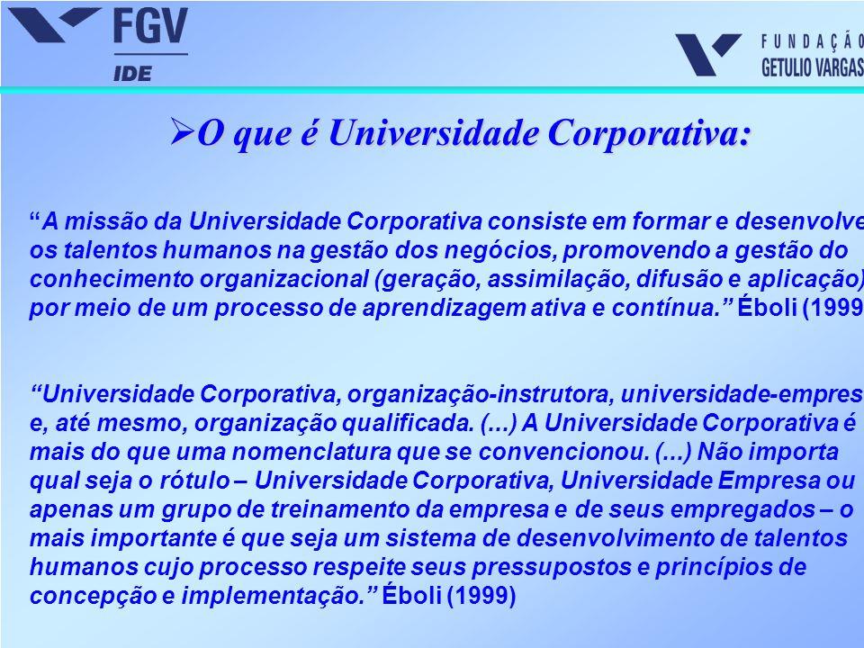 O que é Universidade Corporativa: