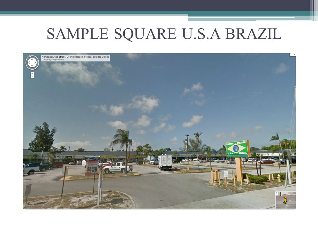 SAMPLE SQUARE U.S.A BRAZIL
