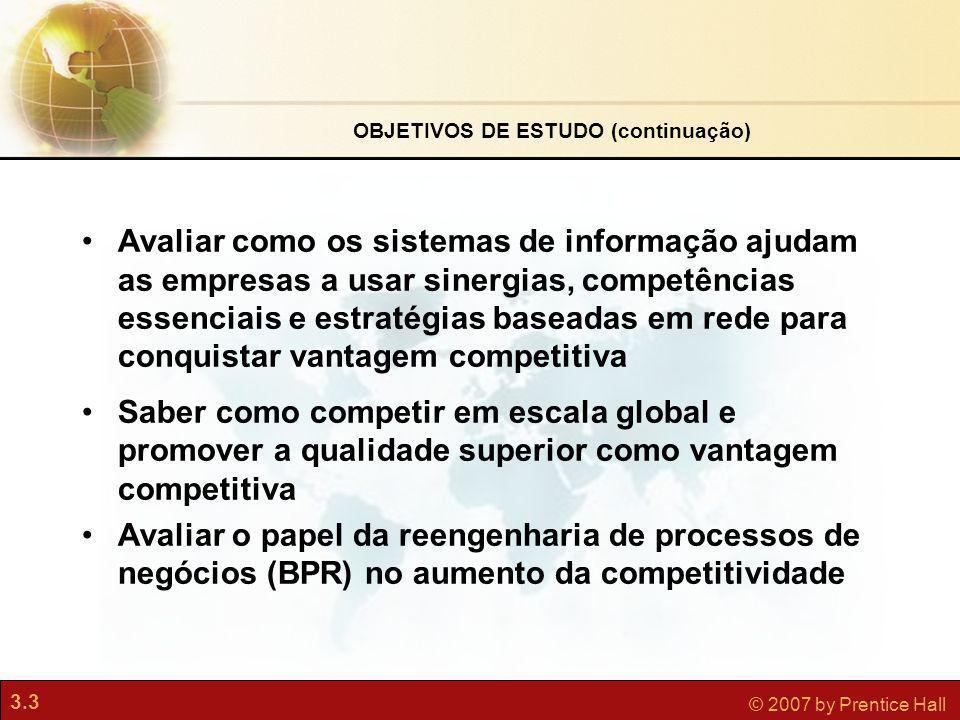 OBJETIVOS DE ESTUDO (continuação)