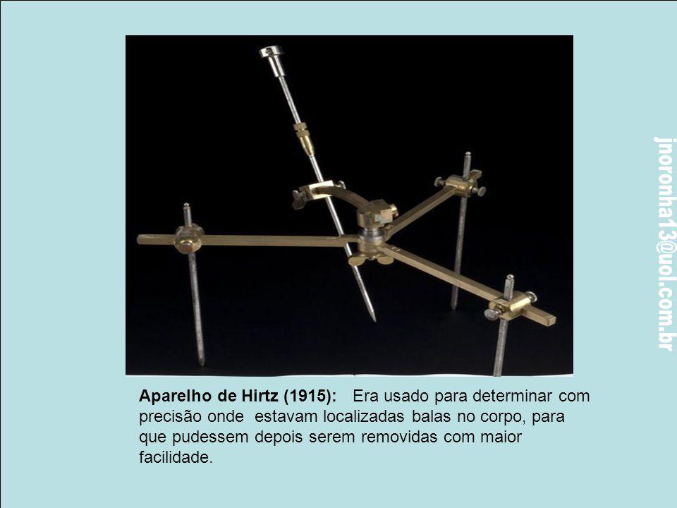 Aparelho de Hirtz (1915): Era usado para determinar com