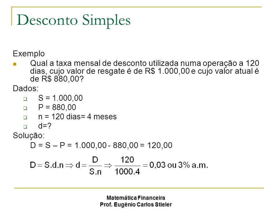 Desconto Simples Exemplo