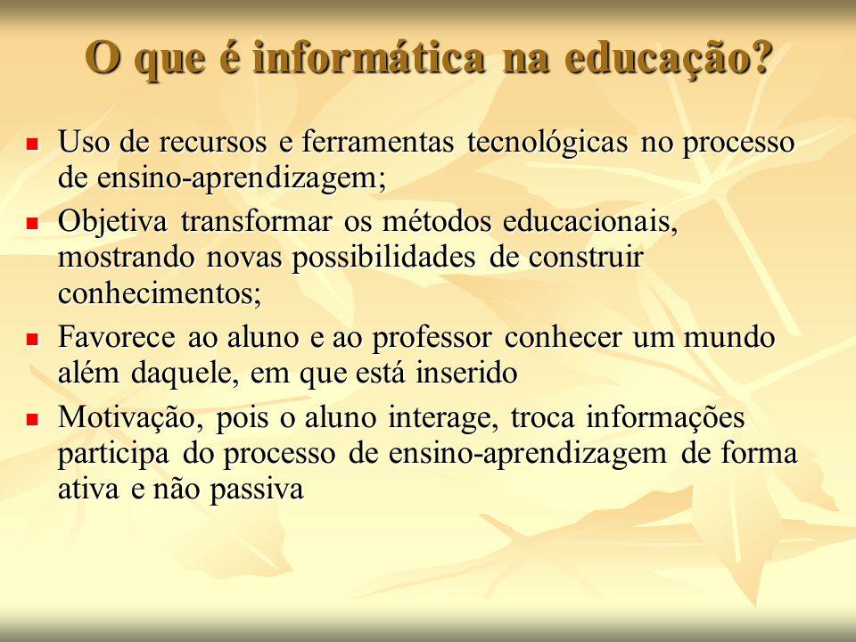 O que é informática na educação
