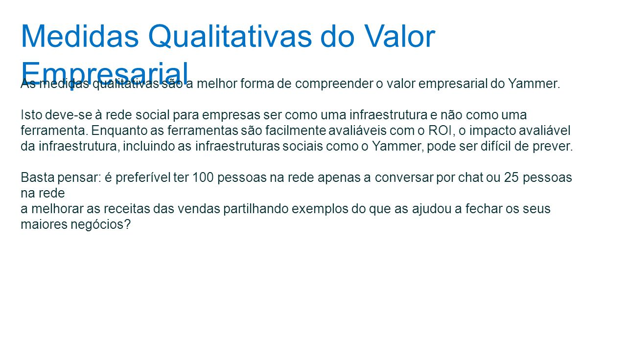 Medidas Qualitativas do Valor Empresarial
