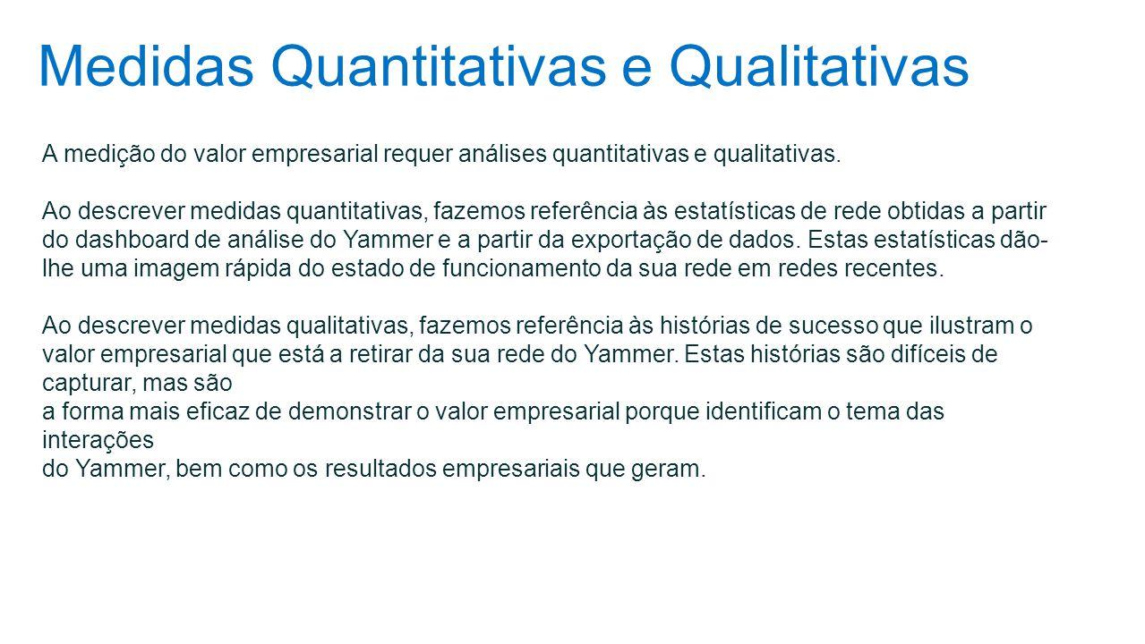 Medidas Quantitativas e Qualitativas