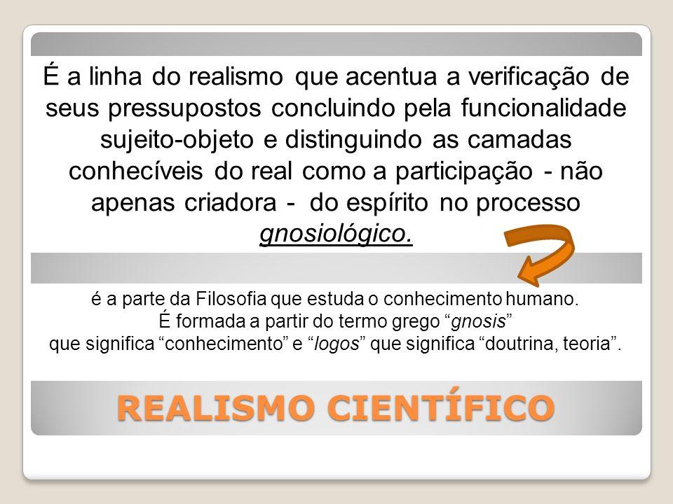 É a linha do realismo que acentua a verificação de seus pressupostos concluindo pela funcionalidade sujeito-objeto e distinguindo as camadas conhecíveis do real como a participação - não apenas criadora - do espírito no processo gnosiológico.