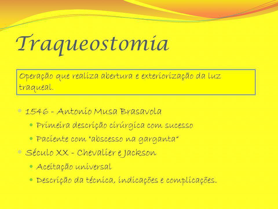 Traqueostomia 1546 - Antonio Musa Brasavola