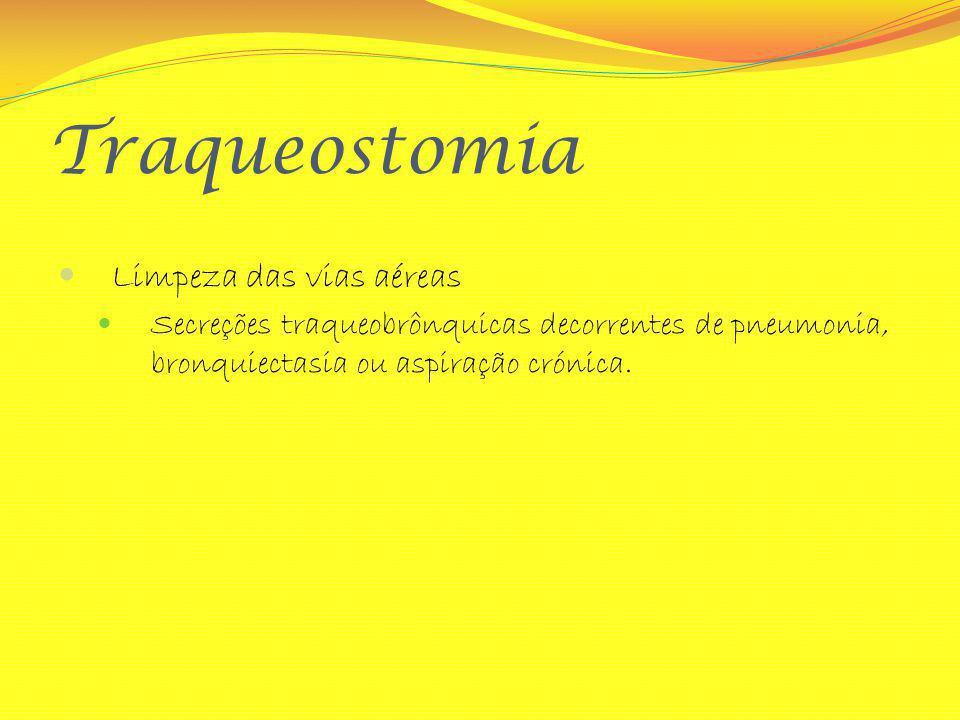 Traqueostomia Limpeza das vias aéreas