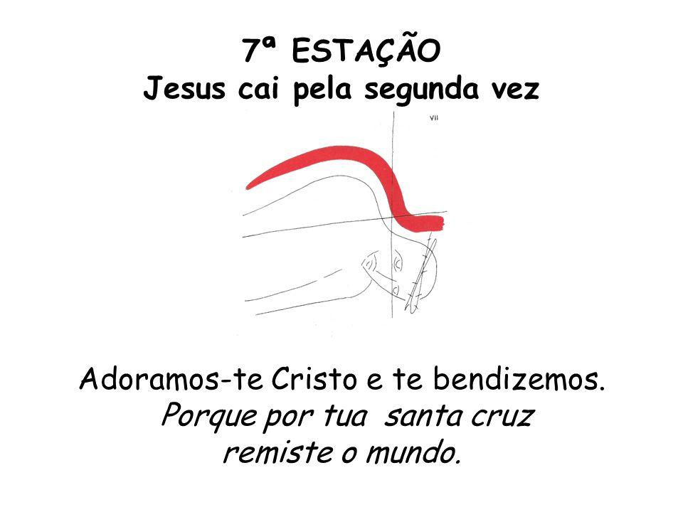7ª ESTAÇÃO Jesus cai pela segunda vez Adoramos-te Cristo e te bendizemos.