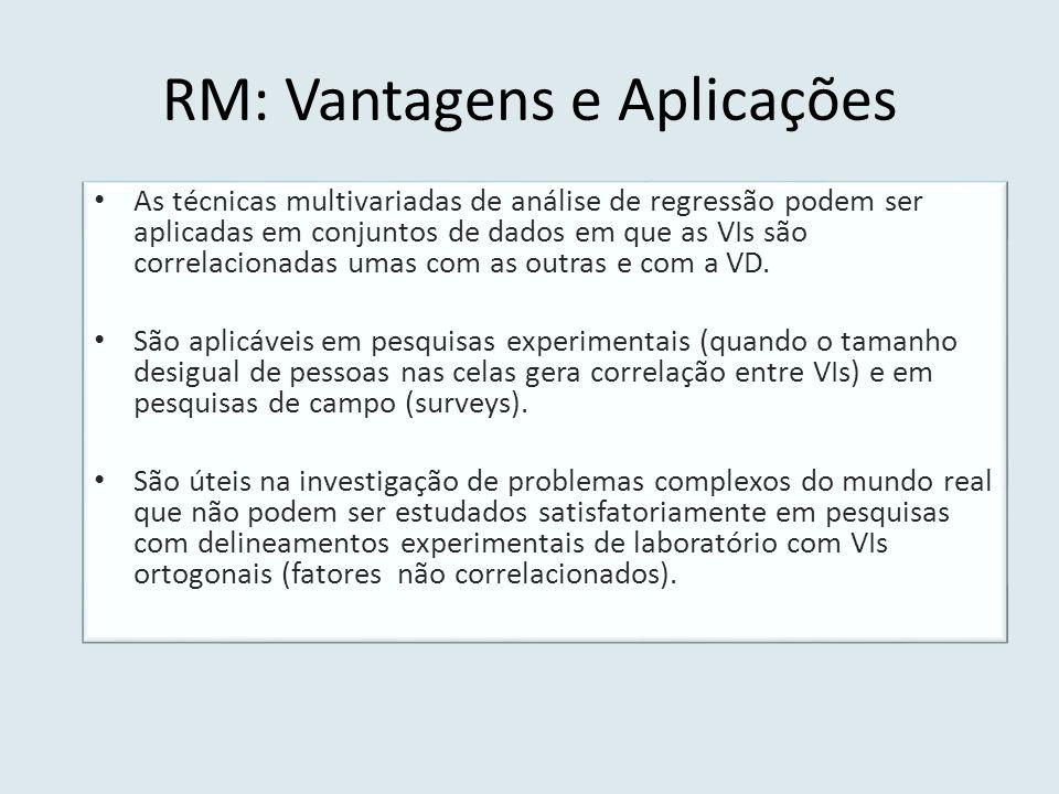 RM: Vantagens e Aplicações