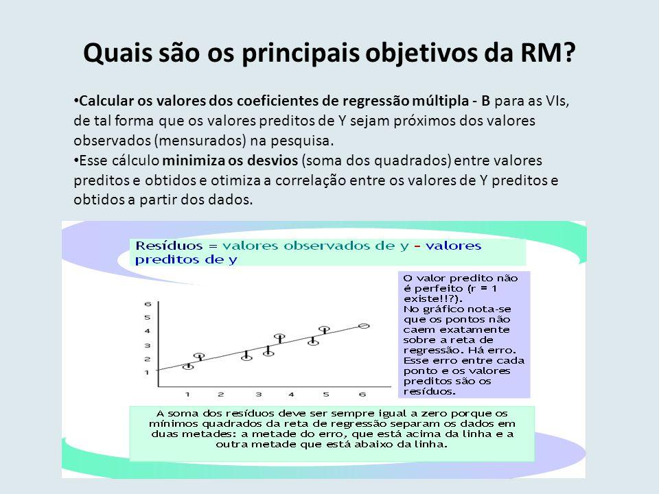 Quais são os principais objetivos da RM