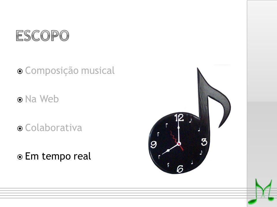Escopo Composição musical Na Web Colaborativa Em tempo real