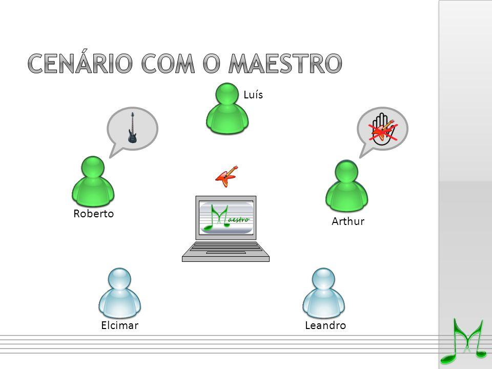 Cenário COM O MAESTRO Luís Roberto Arthur Elcimar Leandro