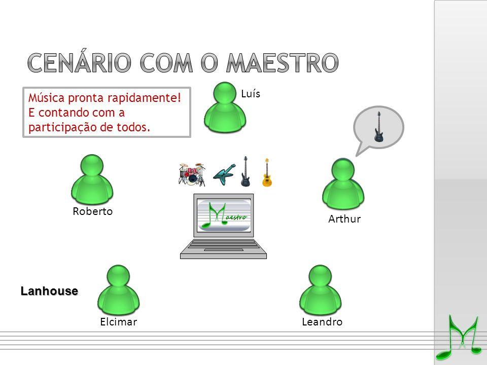 Cenário COM O MAESTRO Luís Música pronta rapidamente!