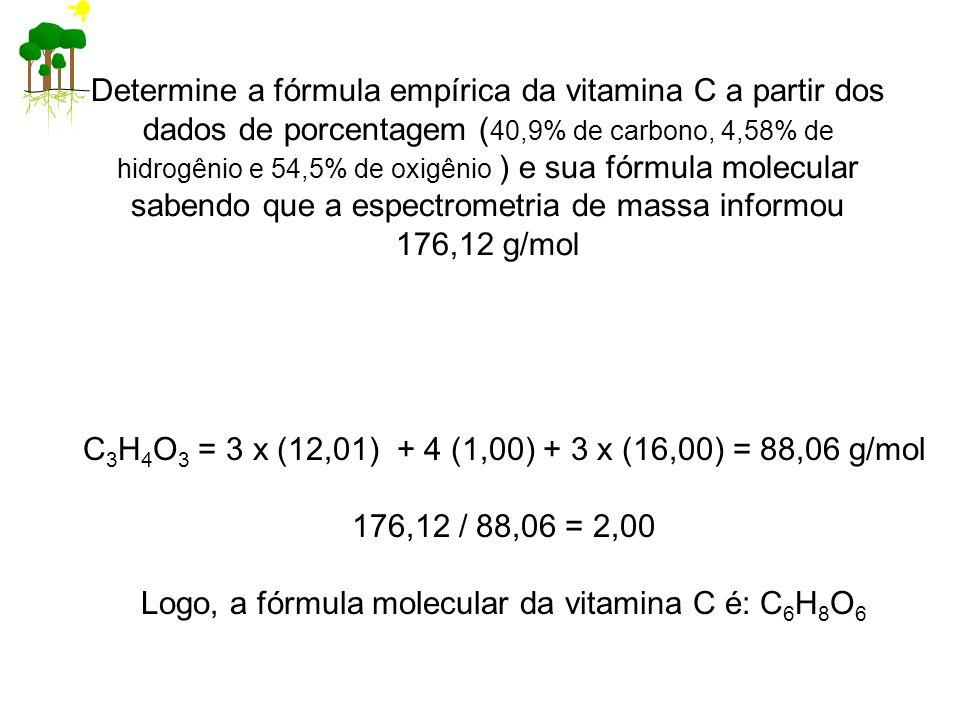 C3H4O3 = 3 x (12,01) + 4 (1,00) + 3 x (16,00) = 88,06 g/mol
