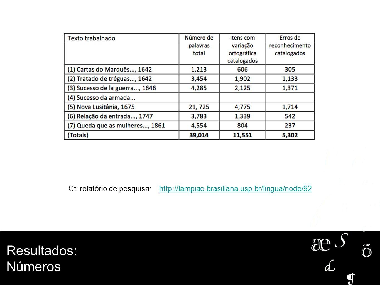 Cf. relatório de pesquisa: http://lampiao. brasiliana. usp