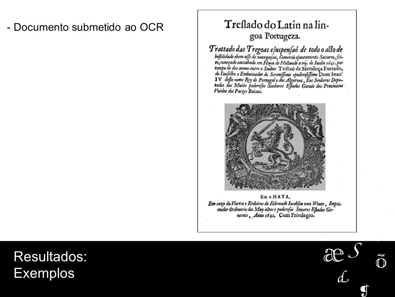 - Documento submetido ao OCR