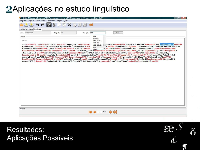 Aplicações no estudo linguístico