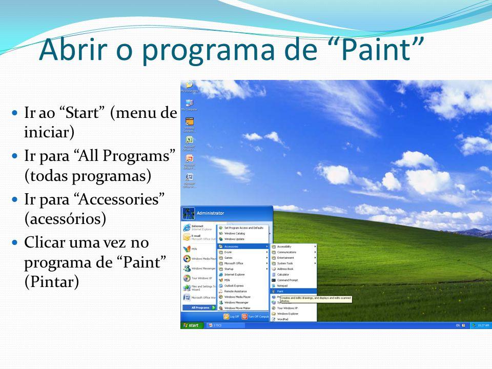Abrir o programa de Paint