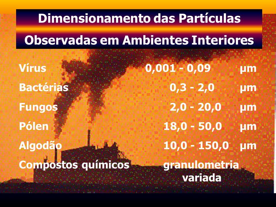 Dimensionamento das Partículas Observadas em Ambientes Interiores
