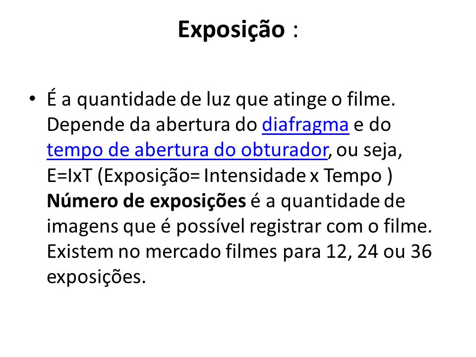 Exposição :