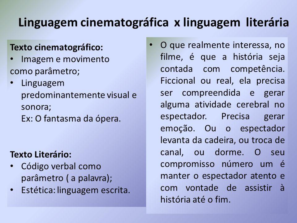 Linguagem cinematográfica x linguagem literária