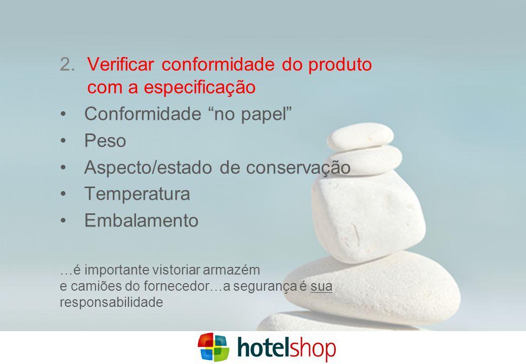 Verificar conformidade do produto com a especificação