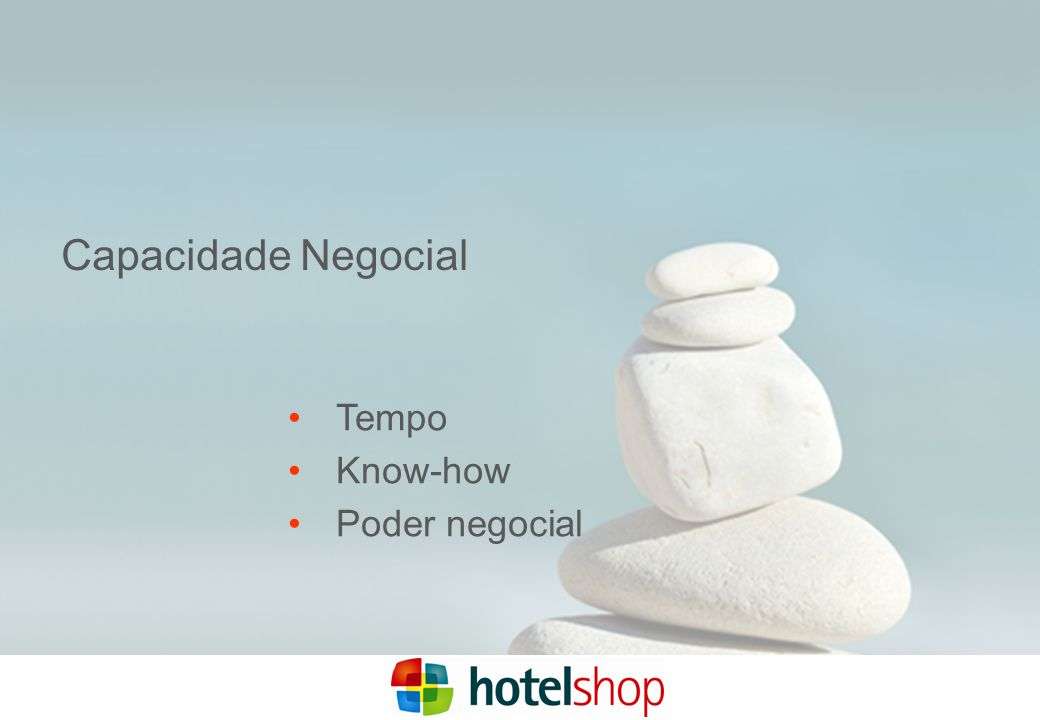Capacidade Negocial Tempo Know-how Poder negocial
