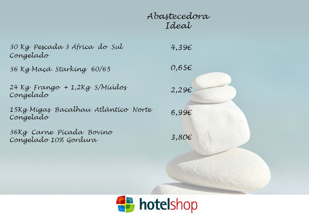 Abastecedora Ideal 4,39€ 0,65€ 2,29€ 6,99€ 3,80€