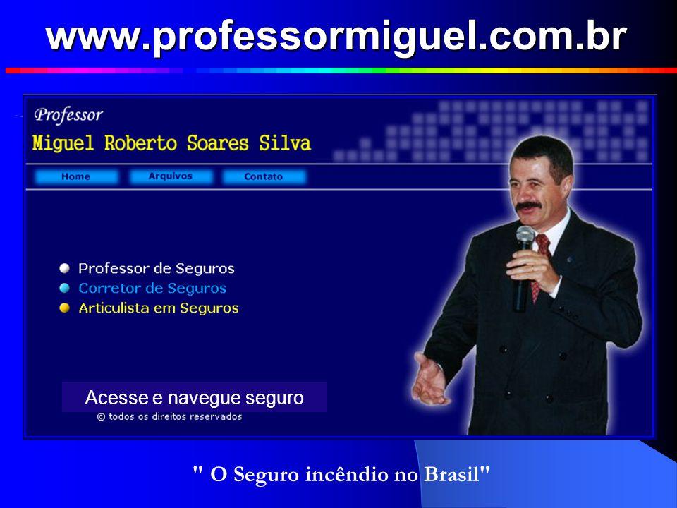 www.professormiguel.com.br O Seguro incêndio no Brasil