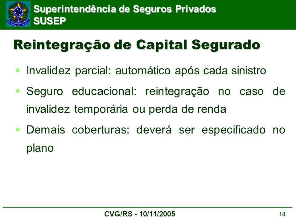 Reintegração de Capital Segurado