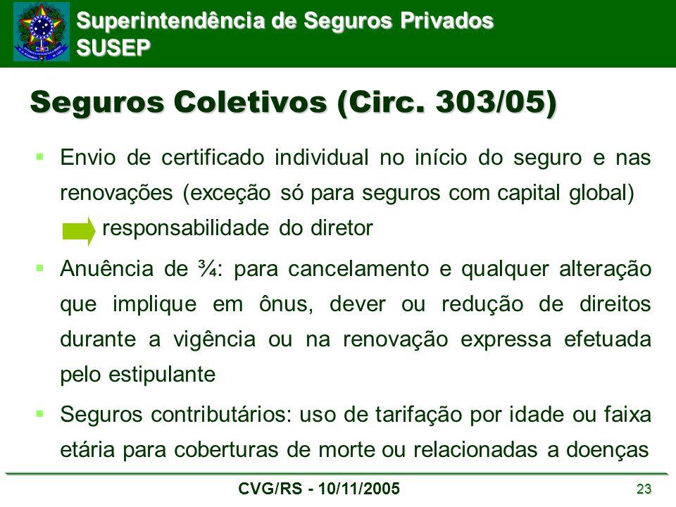 Seguros Coletivos (Circ. 303/05)