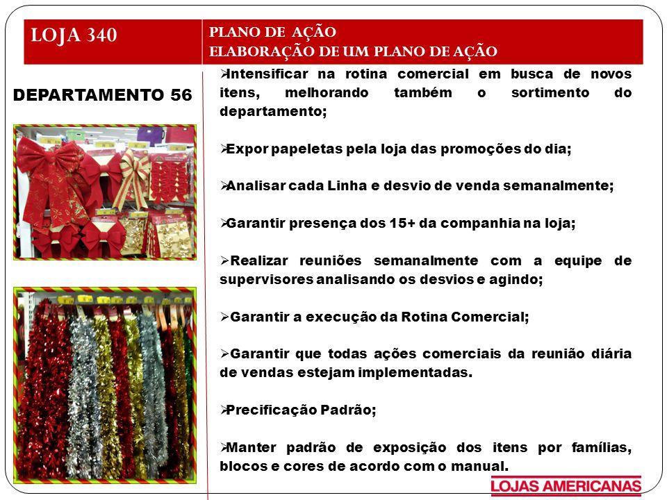 LOJA 340 PLANO DE AÇÃO ELABORAÇÃO DE UM PLANO DE AÇÃO DEPARTAMENTO 56