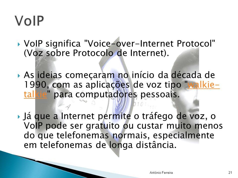 VoIP VoIP significa Voice-over-Internet Protocol (Voz sobre Protocolo de Internet).