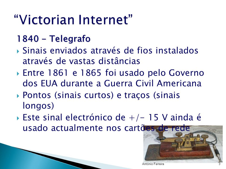 Victorian Internet 1840 - Telegrafo