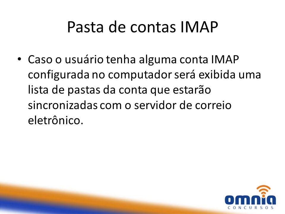 Pasta de contas IMAP