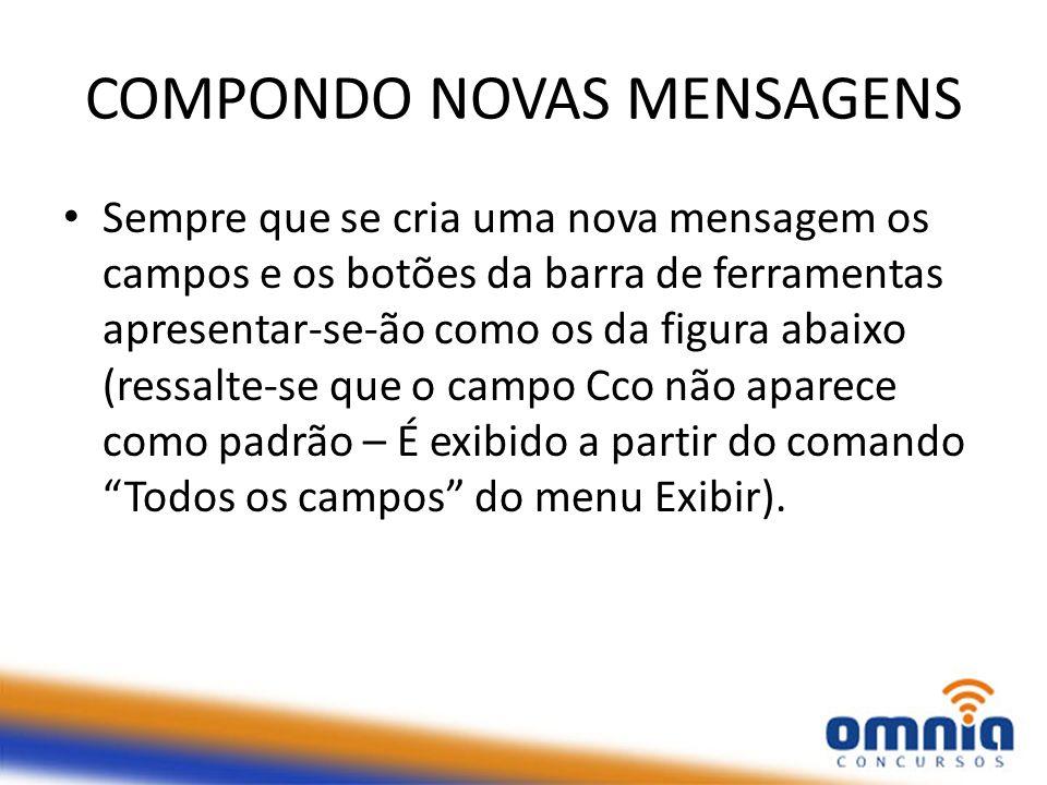 COMPONDO NOVAS MENSAGENS