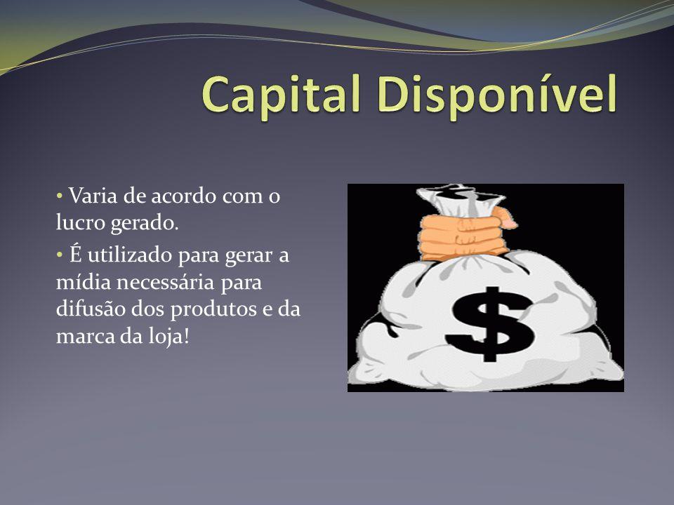 Capital Disponível Varia de acordo com o lucro gerado.
