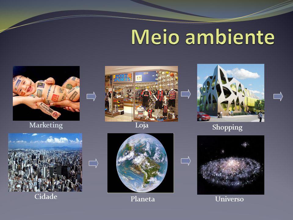 Meio ambiente Marketing Loja Shopping Cidade Planeta Universo