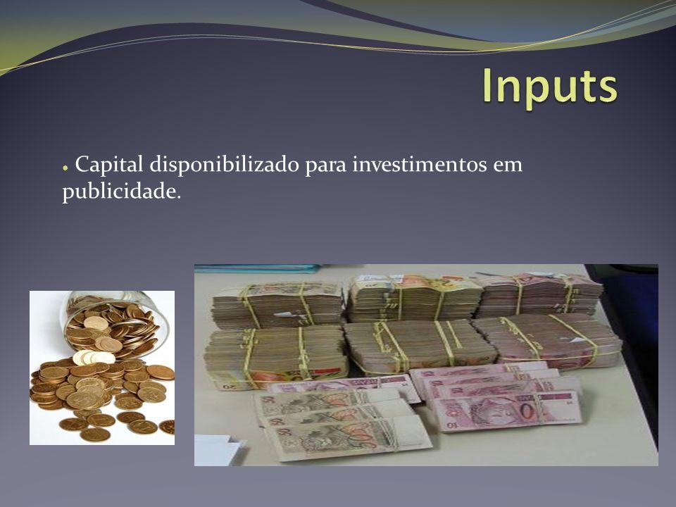 Capital disponibilizado para investimentos em publicidade.